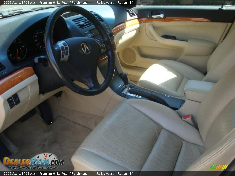 2005 Acura Tsx Sedan Premium White Pearl Parchment Photo