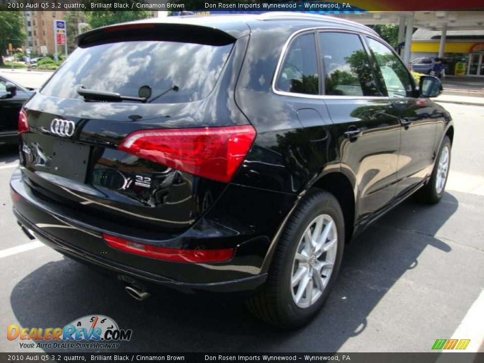 2010 Audi Q5 3 2 Quattro Brilliant Black Cinnamon Brown