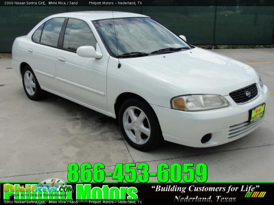 2000 Nissan Sentra Gxe White Mica Sand Photo 1
