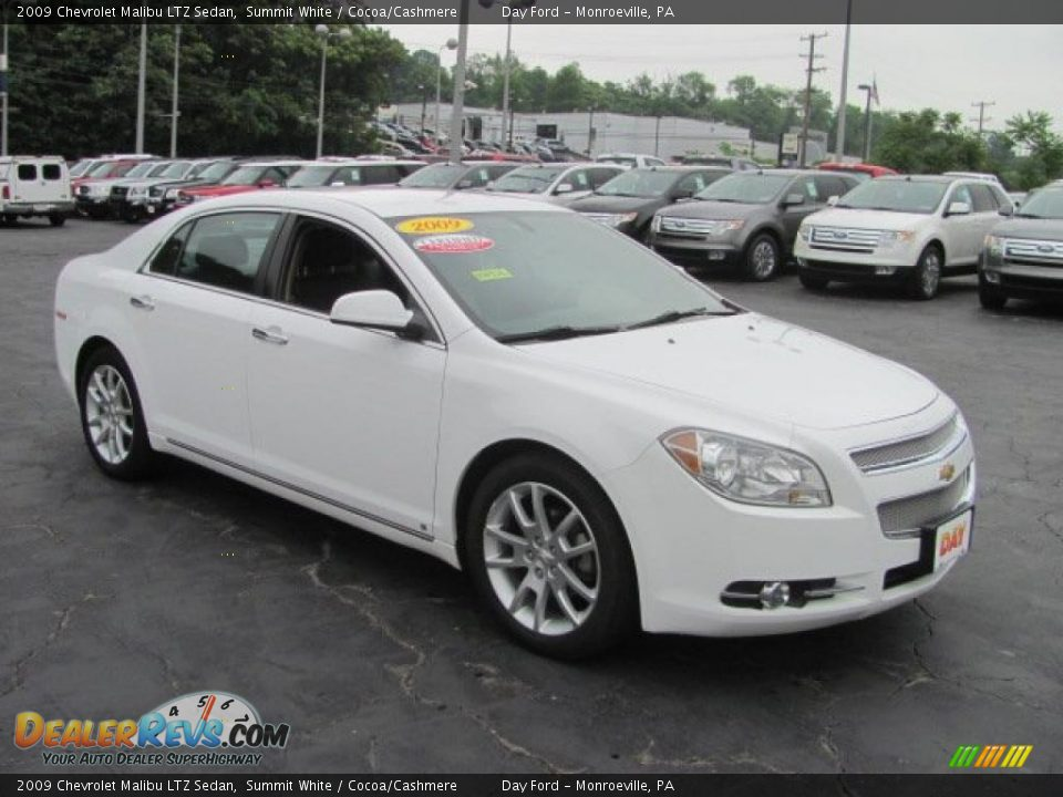 2009 chevrolet malibu ltz sedan summit white cocoa. Black Bedroom Furniture Sets. Home Design Ideas