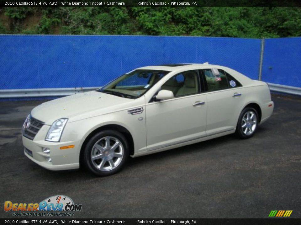 2010 Cadillac STS 4 V6 AWD White Diamond Tricoat / Cashmere Photo #1