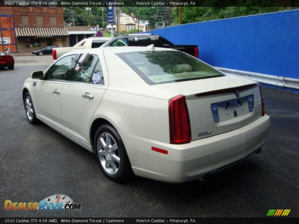 2010 Cadillac STS 4 V6 AWD White Diamond Tricoat / Cashmere Photo #3