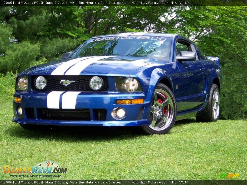 2006 ford mustang roush stage 1 coupe vista blue metallic dark charcoal photo 1. Black Bedroom Furniture Sets. Home Design Ideas