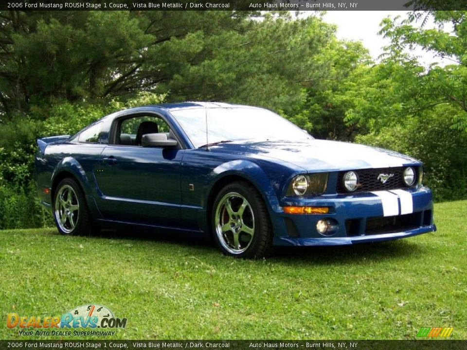 2006 ford mustang roush stage 1 coupe vista blue metallic dark charcoal photo 3. Black Bedroom Furniture Sets. Home Design Ideas