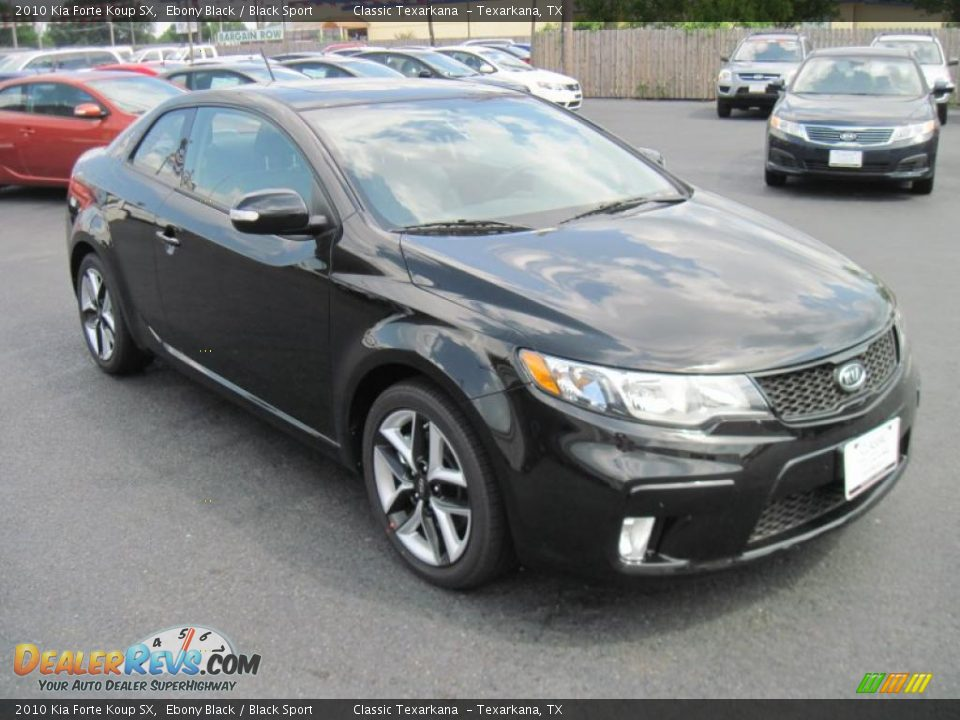 2010 Kia Forte Koup SX Ebony Black / Black Sport Photo #2 ...
