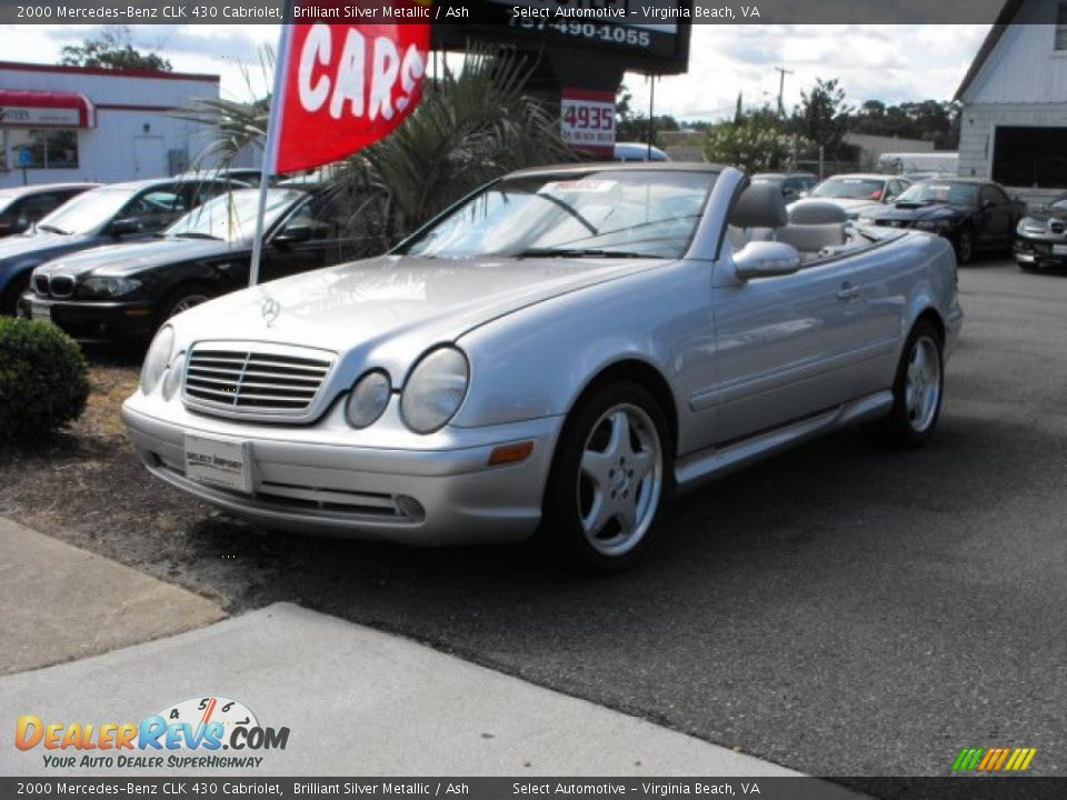 2000 mercedes benz clk 430 cabriolet brilliant silver. Black Bedroom Furniture Sets. Home Design Ideas