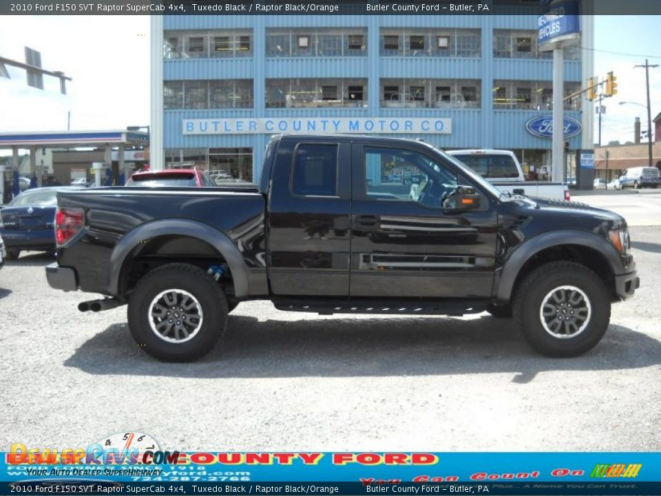2010 ford f150 svt raptor supercab 4x4 tuxedo black raptor black orange photo 1. Black Bedroom Furniture Sets. Home Design Ideas