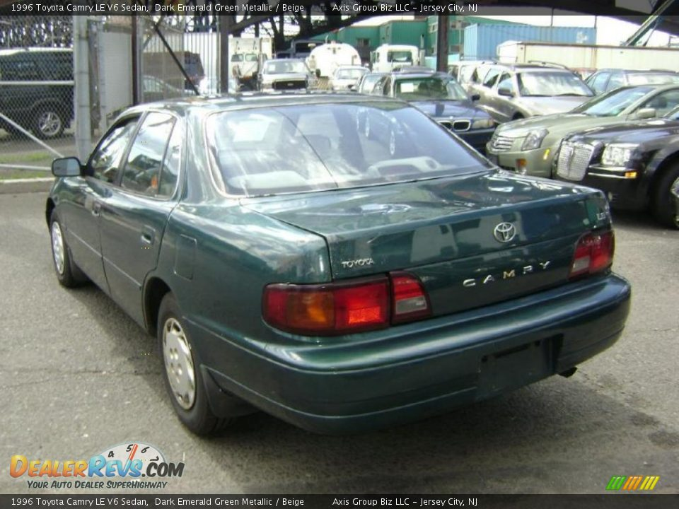 1996 Toyota Camry Le V6 Sedan Dark Emerald Green Metallic