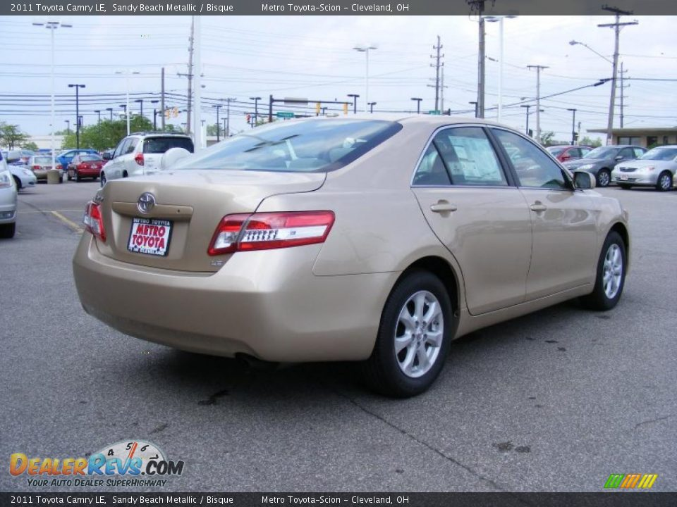 2011 Toyota Camry Le Sandy Beach Metallic Bisque Photo