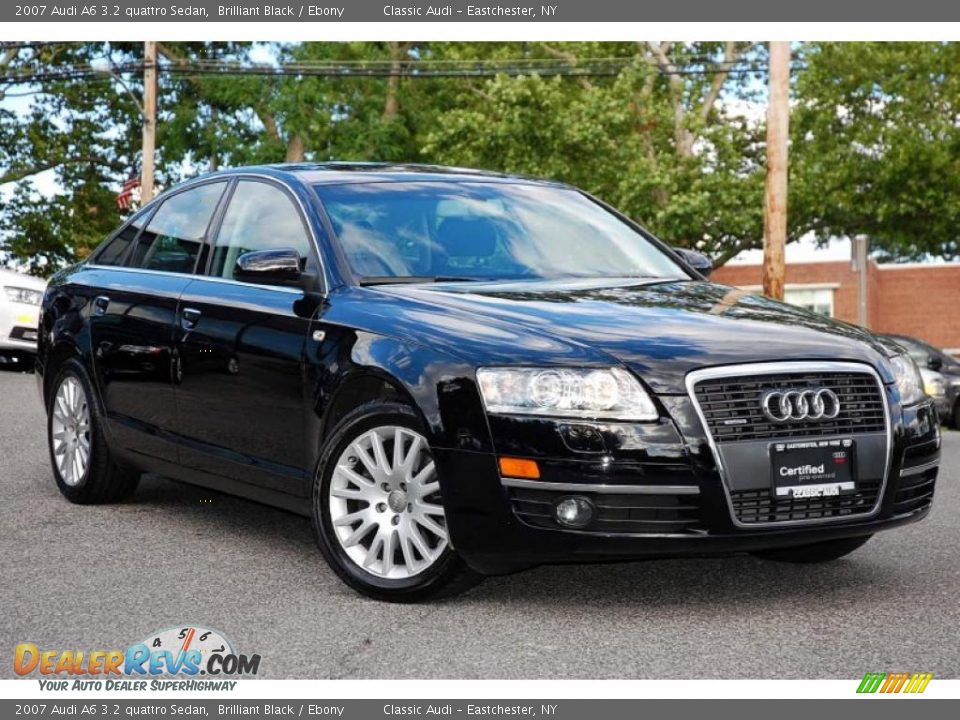 2007 audi a6 3 2 quattro sedan brilliant black ebony photo 10. Black Bedroom Furniture Sets. Home Design Ideas