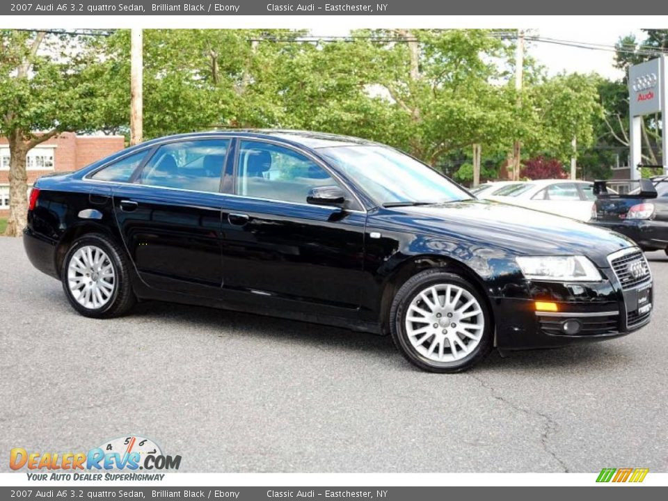 2007 Audi A6 3.2 quattro Sedan Brilliant Black / Ebony Photo #11 | DealerRevs.com