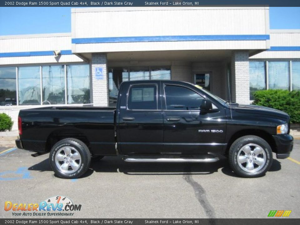 2002 dodge ram 1500 sport quad cab 4x4 black dark slate gray photo 4. Black Bedroom Furniture Sets. Home Design Ideas