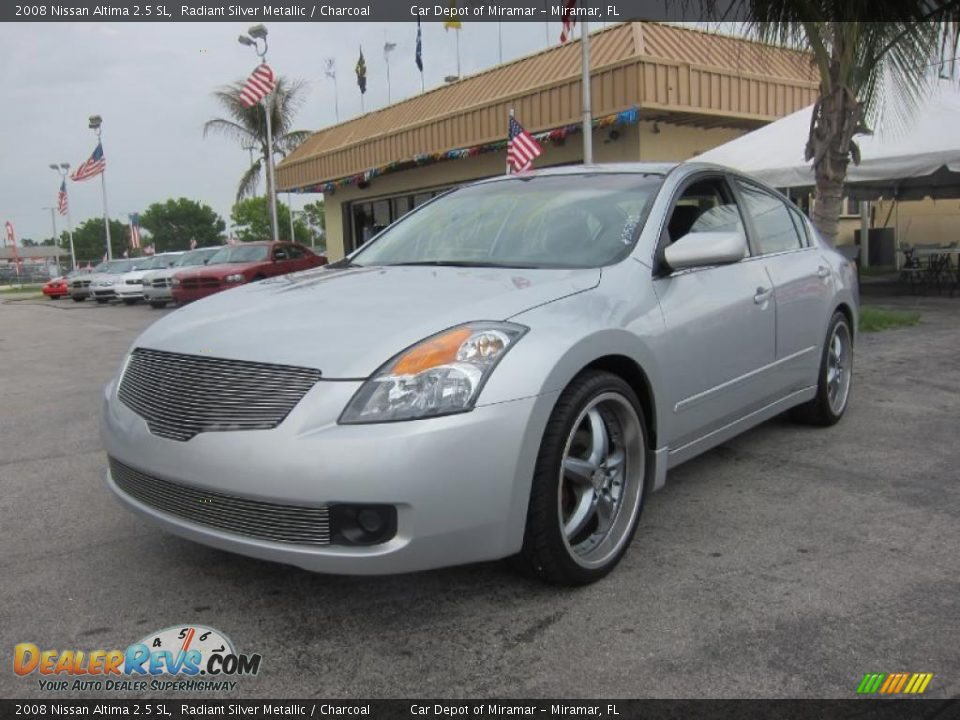 2008 nissan altima 2 5 sl radiant silver metallic. Black Bedroom Furniture Sets. Home Design Ideas