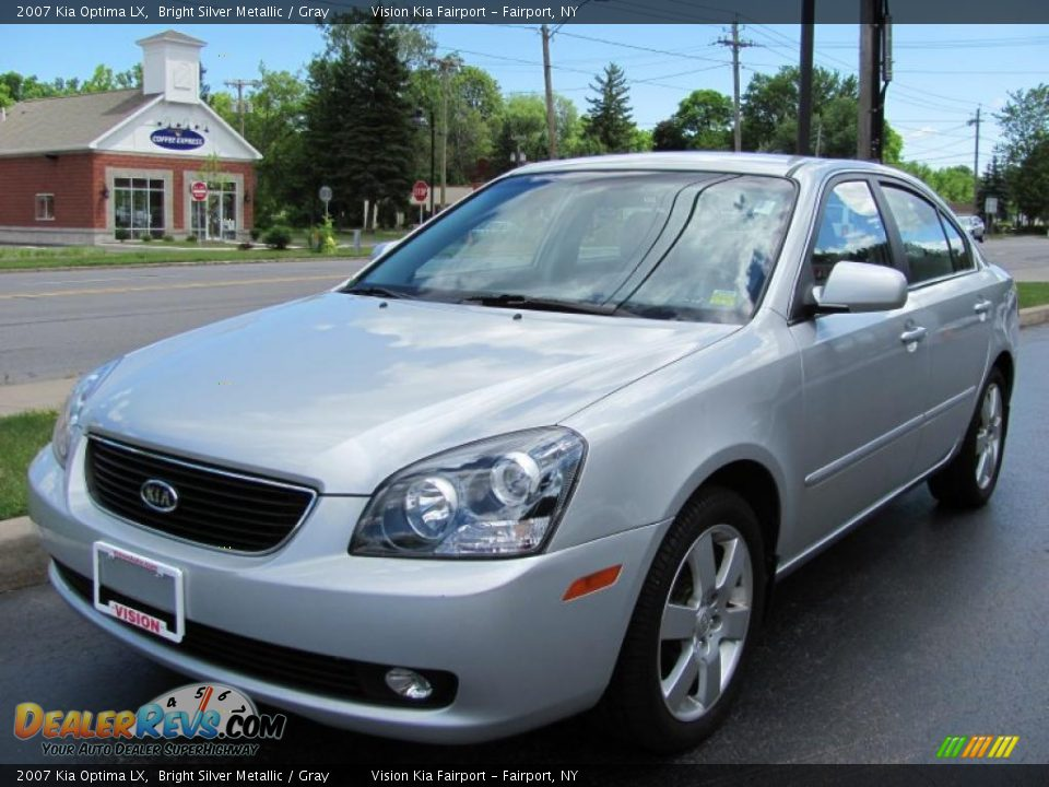 2007 Kia Optima Lx Bright Silver Metallic Gray Photo 1