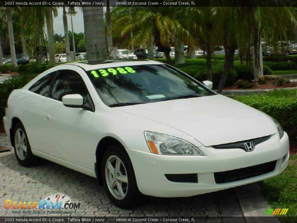 2003 honda accord ex l coupe taffeta white ivory photo 1. Black Bedroom Furniture Sets. Home Design Ideas