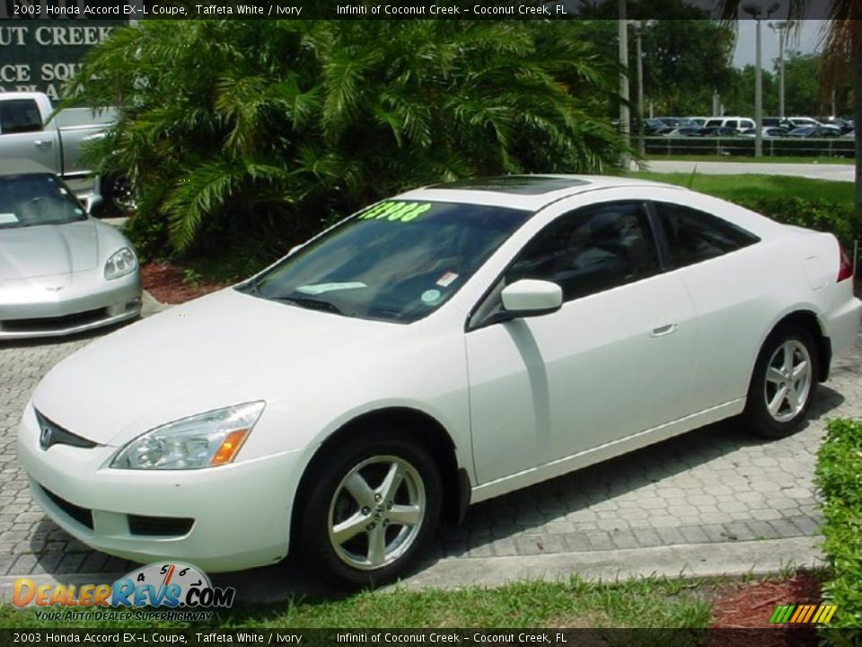 2003 honda accord ex l coupe taffeta white ivory photo 4. Black Bedroom Furniture Sets. Home Design Ideas