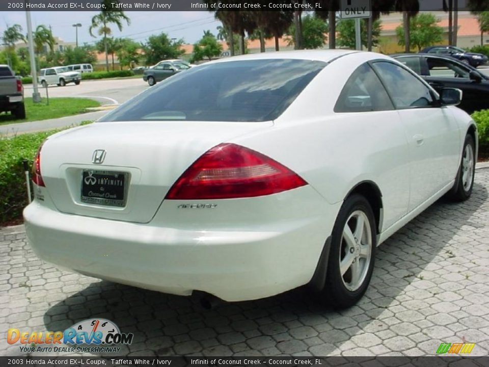 2003 honda accord ex l coupe taffeta white ivory photo 7. Black Bedroom Furniture Sets. Home Design Ideas