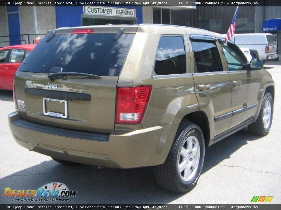 2008 jeep grand cherokee laredo 4x4 olive green metallic dark slate gray light graystone photo