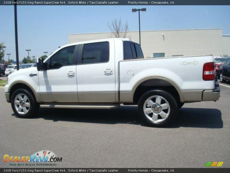 2008 ford f150 king ranch supercrew 4x4 oxford white tan casta o leather photo 3. Black Bedroom Furniture Sets. Home Design Ideas