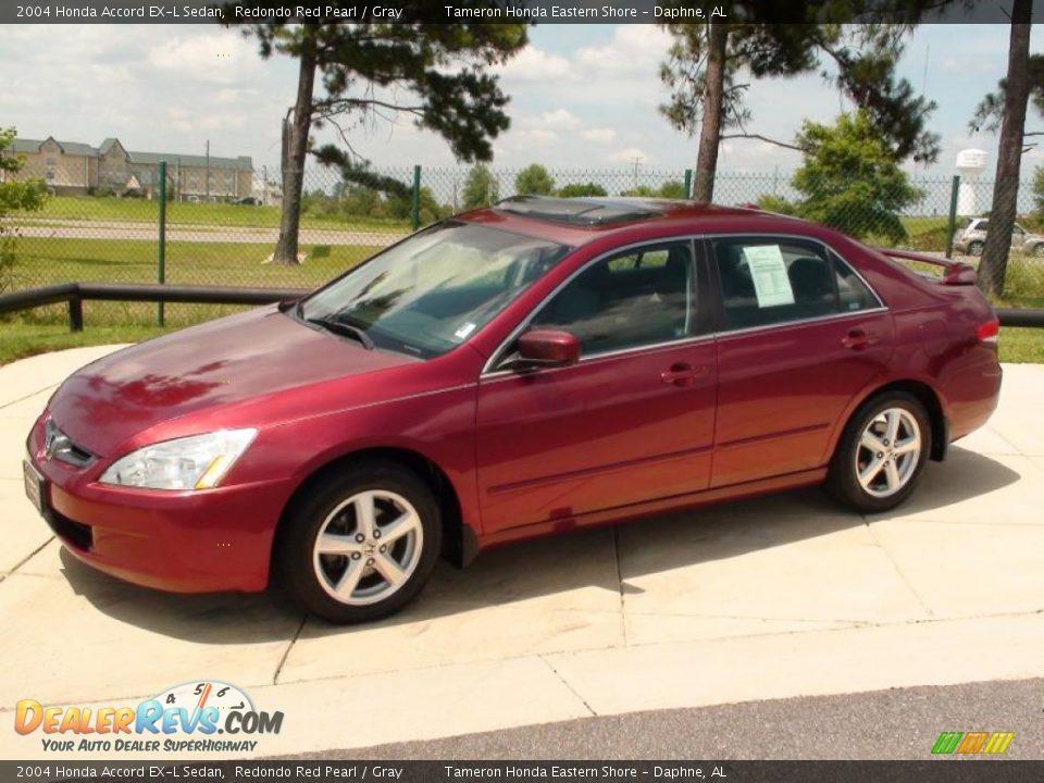 2004 Honda Accord Ex L Sedan Redondo Red Pearl Gray