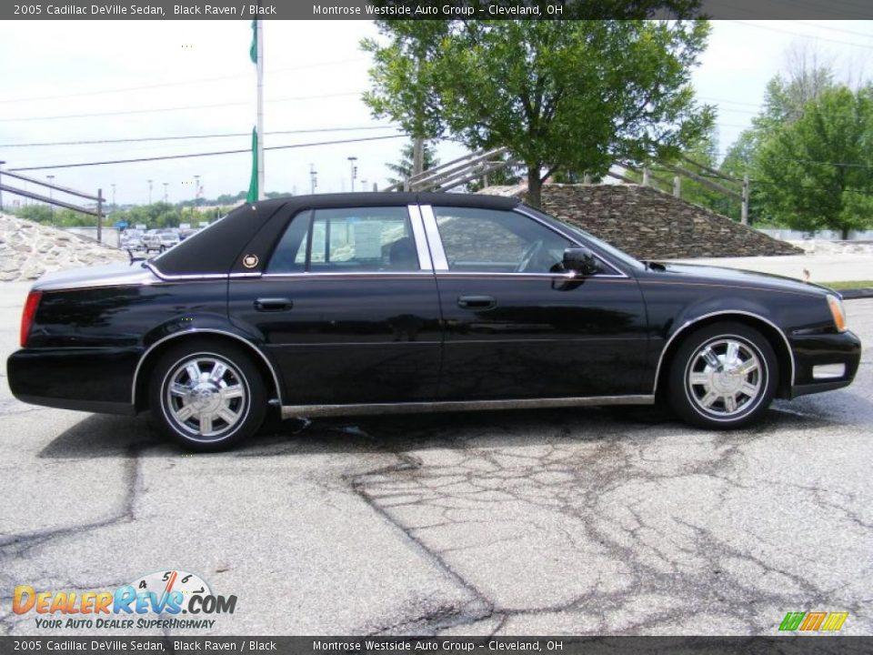 2005 Cadillac Deville Sedan Black Raven Black Photo 6