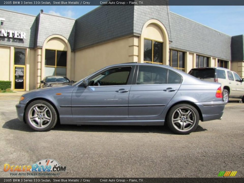 2005 Bmw 3 Series 330i Sedan Steel Blue Metallic Grey