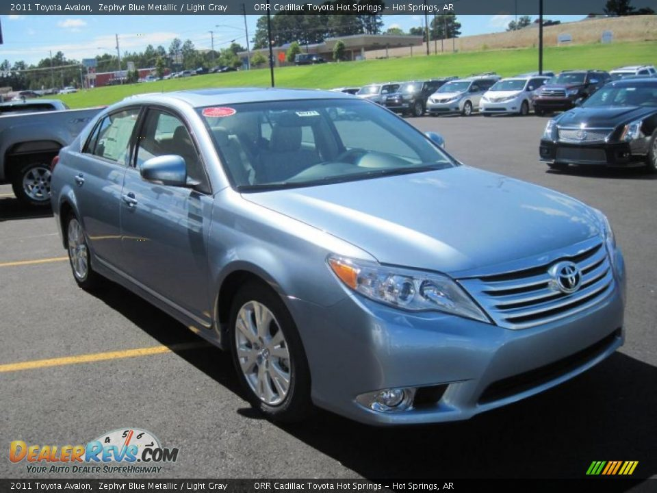 2011 Toyota Avalon Zephyr Blue Metallic Light Gray Photo