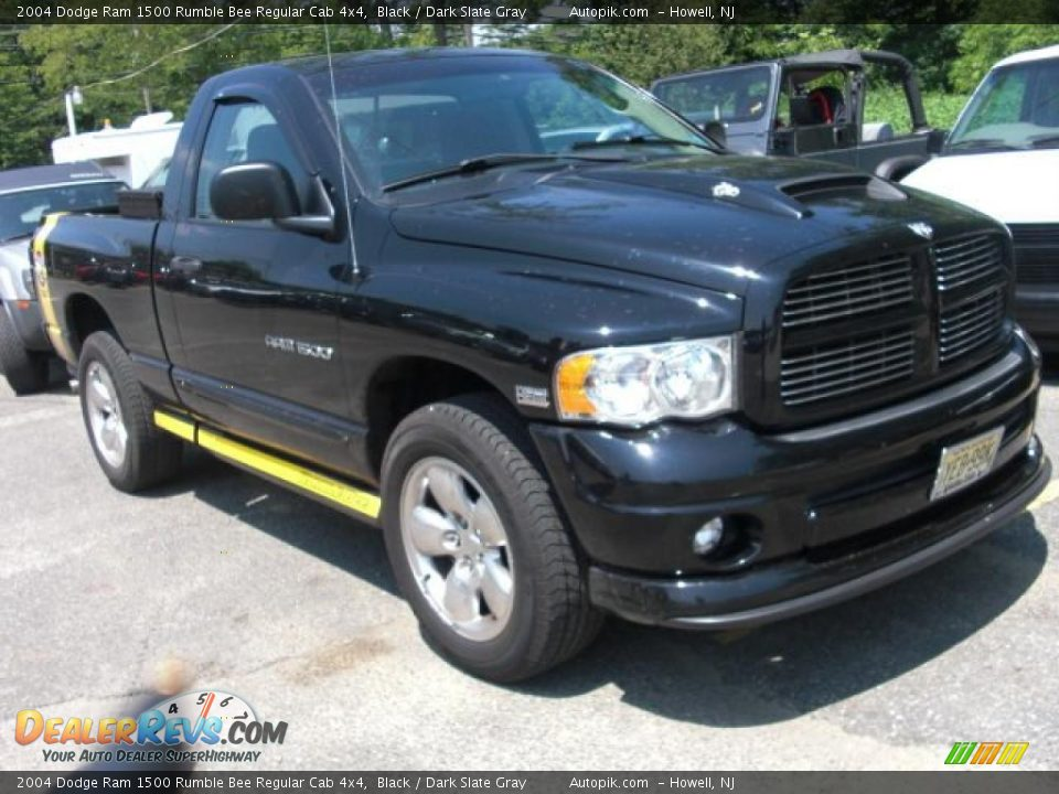 2004 dodge ram 1500 rumble bee regular cab 4x4 black. Black Bedroom Furniture Sets. Home Design Ideas