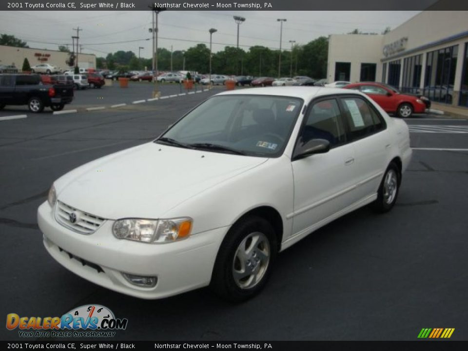 2001 Toyota Corolla Ce Super White Black Photo 7