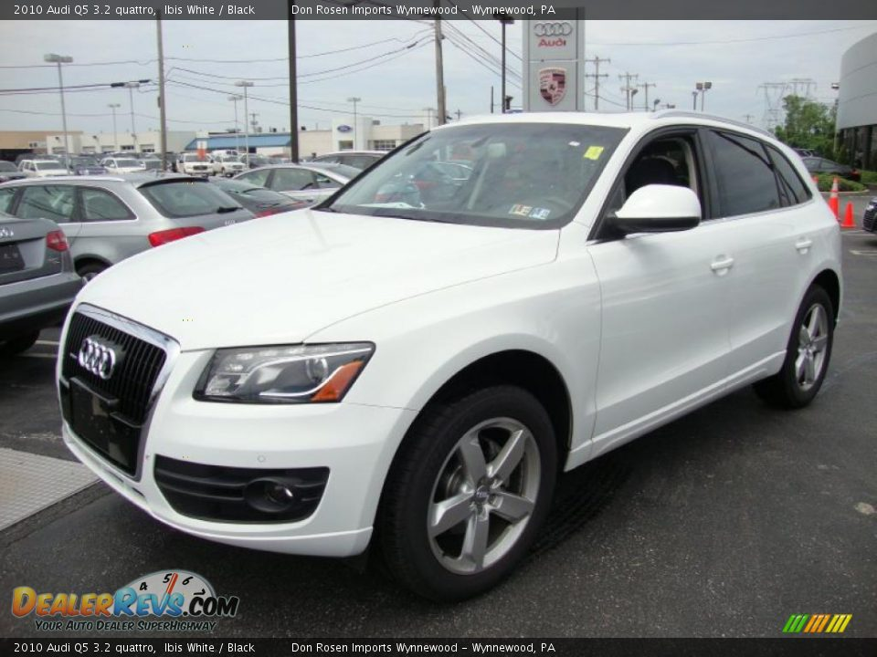 2010 Audi Q5 3 2 Quattro Ibis White Black Photo 2