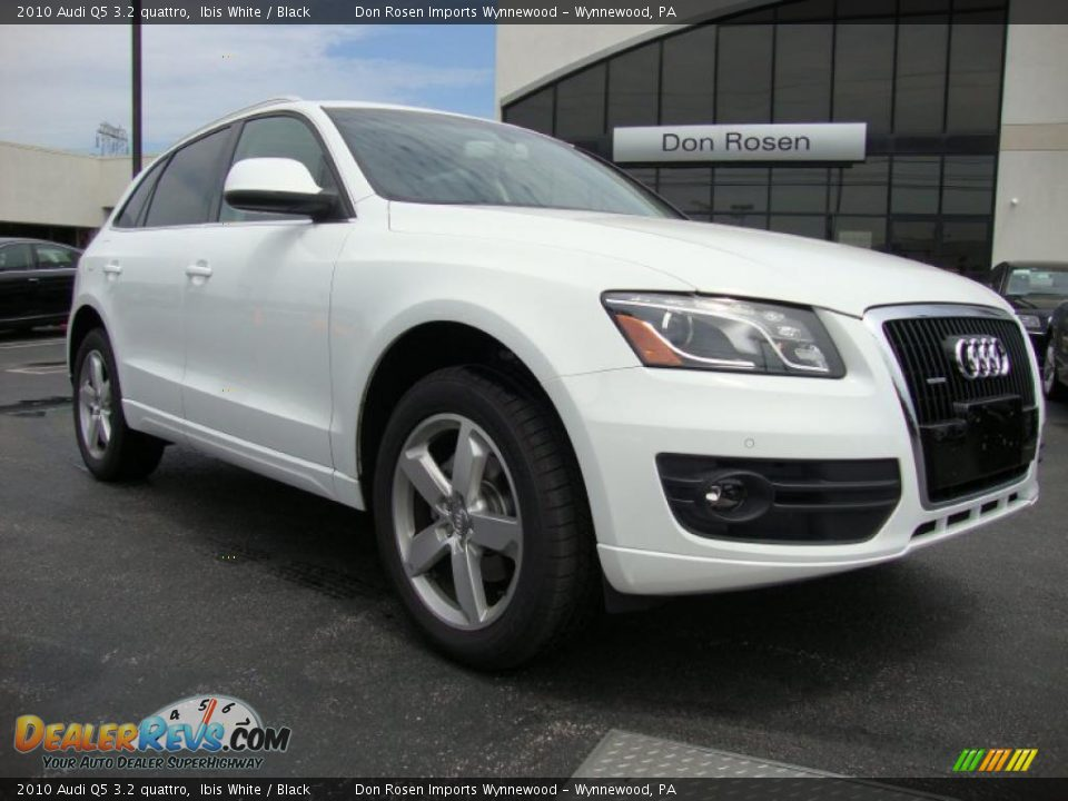 2010 Audi Q5 3 2 Quattro Ibis White Black Photo 5