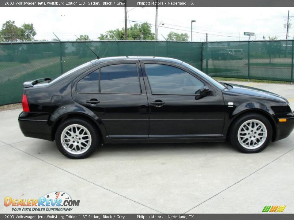 2003 volkswagen jetta wolfsburg edition 1 8t sedan black grey photo 2. Black Bedroom Furniture Sets. Home Design Ideas
