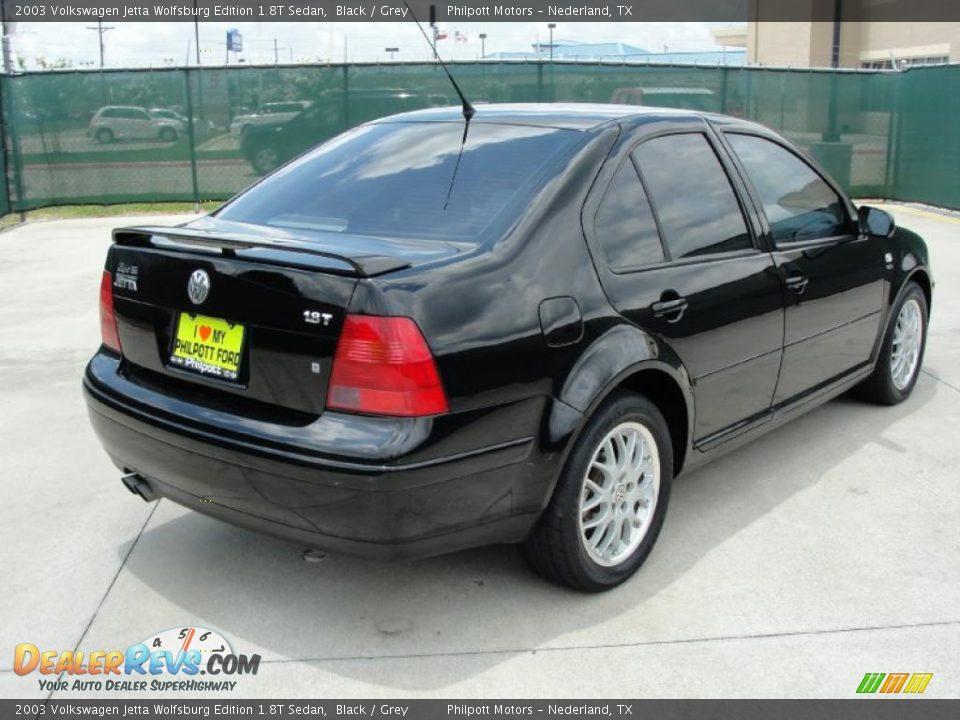 2003 volkswagen jetta wolfsburg edition 1 8t sedan black grey photo 3. Black Bedroom Furniture Sets. Home Design Ideas