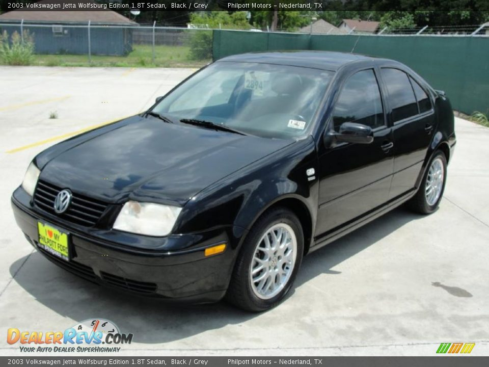 2003 volkswagen jetta wolfsburg edition 1 8t sedan black grey photo 7. Black Bedroom Furniture Sets. Home Design Ideas