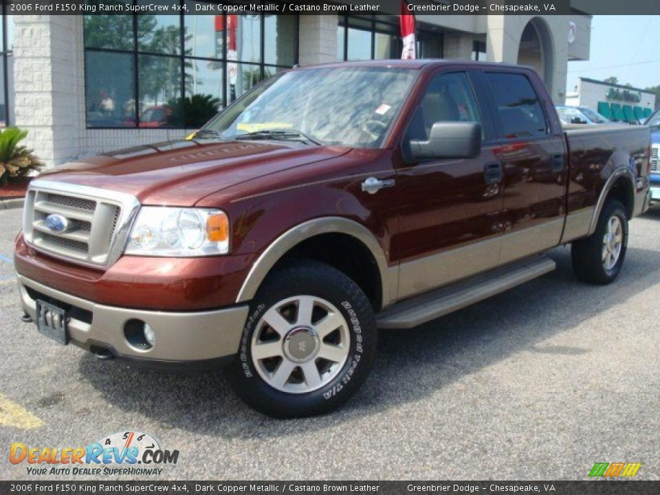 2006 ford f150 king ranch supercrew 4x4 dark copper metallic castano brown leather photo 2. Black Bedroom Furniture Sets. Home Design Ideas