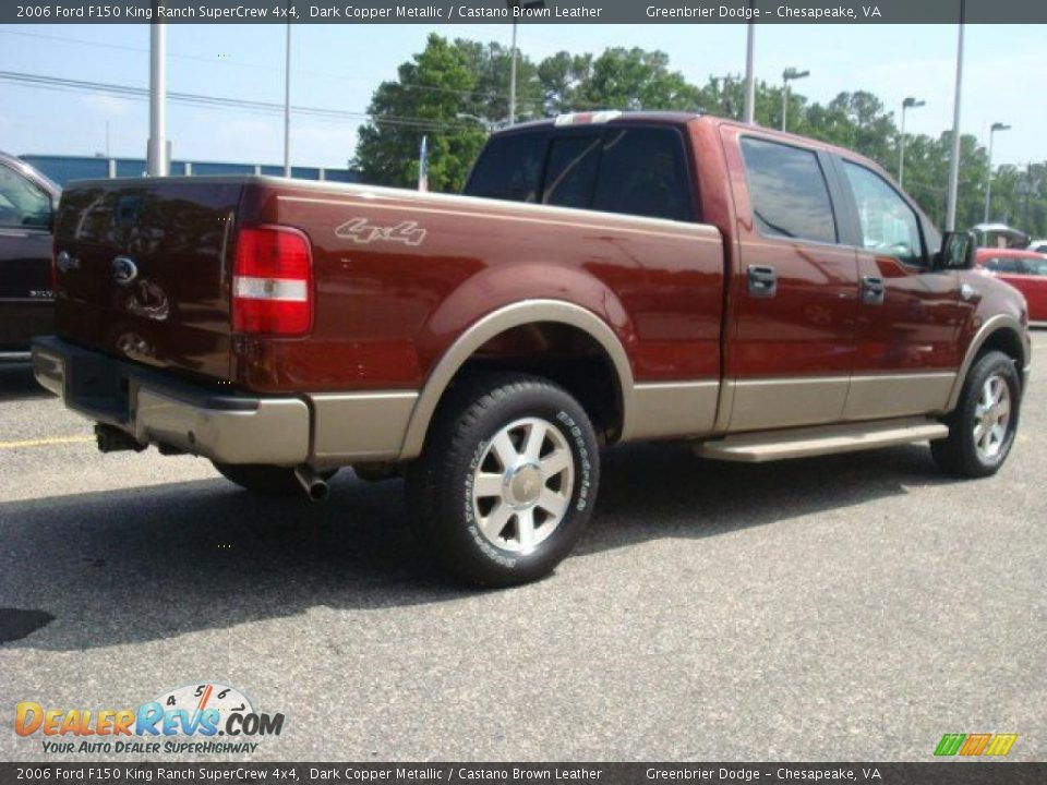 2006 ford f150 king ranch supercrew 4x4 dark copper metallic castano brown leather photo 5. Black Bedroom Furniture Sets. Home Design Ideas
