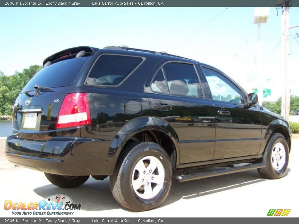 2006 kia sorento lx ebony black gray photo 3. Black Bedroom Furniture Sets. Home Design Ideas
