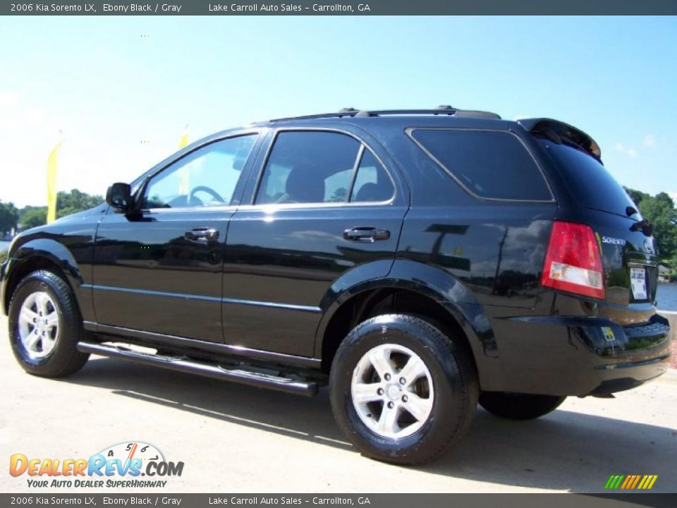 2006 kia sorento lx ebony black gray photo 4. Black Bedroom Furniture Sets. Home Design Ideas