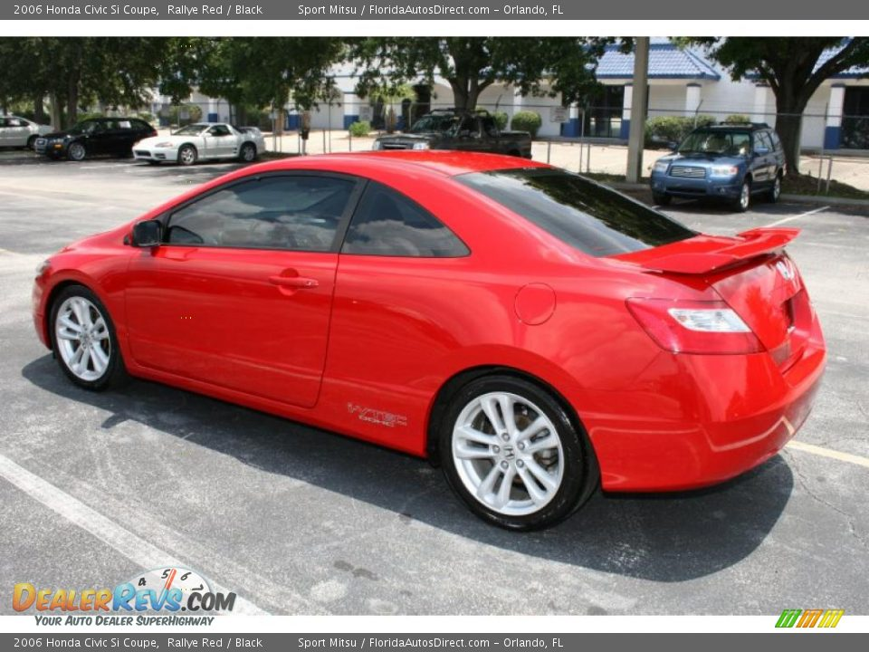 2006 honda civic si coupe rallye red black photo 7. Black Bedroom Furniture Sets. Home Design Ideas