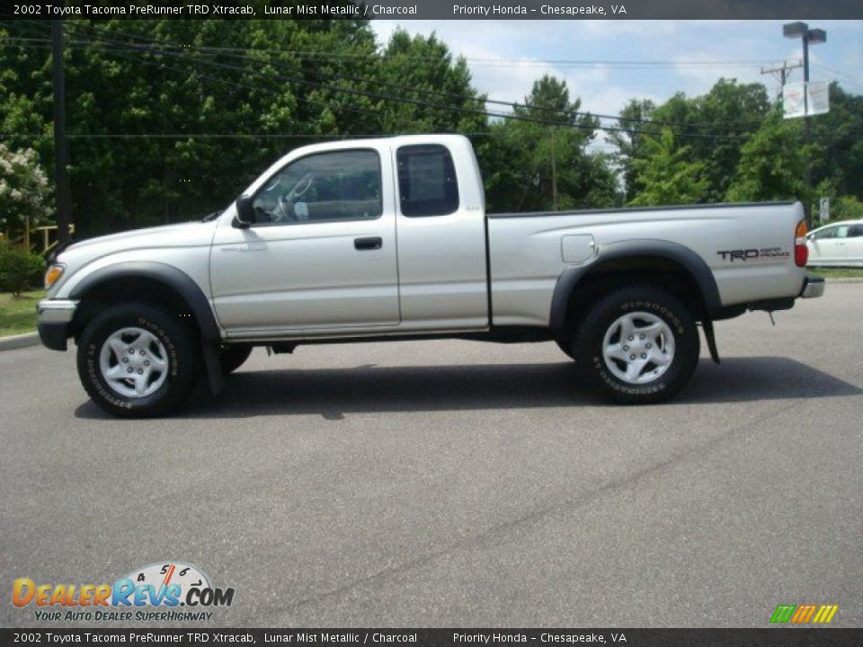 2002 toyota tacoma prerunner trd xtracab lunar mist metallic charcoal photo 3