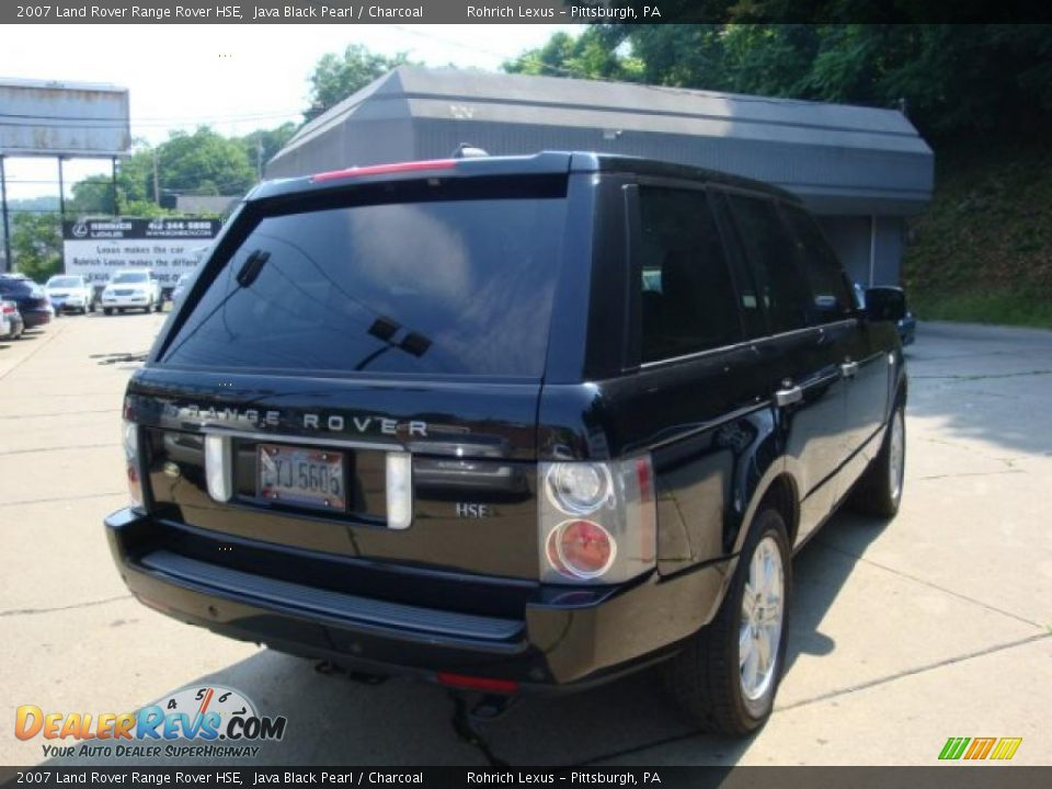 2007 land rover range rover hse java black pearl