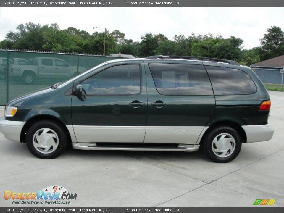 2000 Toyota Sienna Xle Woodland Pearl Green Metallic Oak