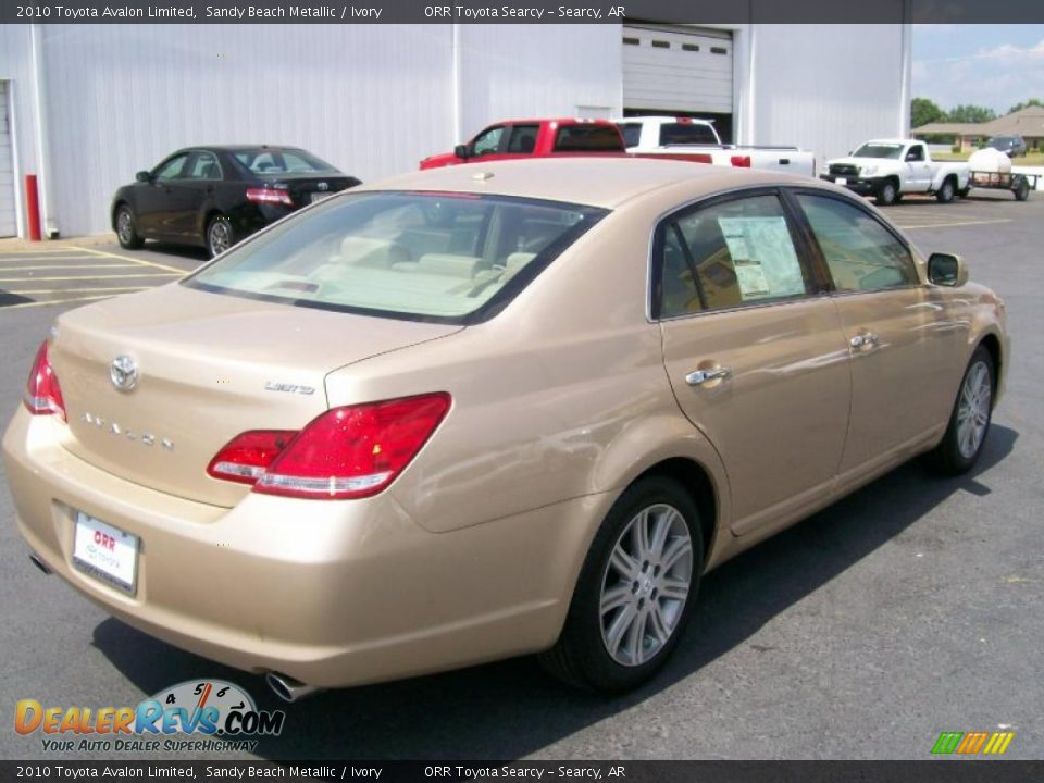 2010 toyota avalon limited sandy beach metallic ivory