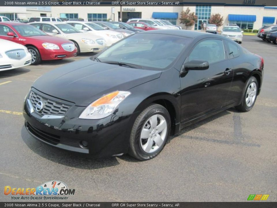 2008 nissan altima 2 5 s coupe super black charcoal photo 1. Black Bedroom Furniture Sets. Home Design Ideas