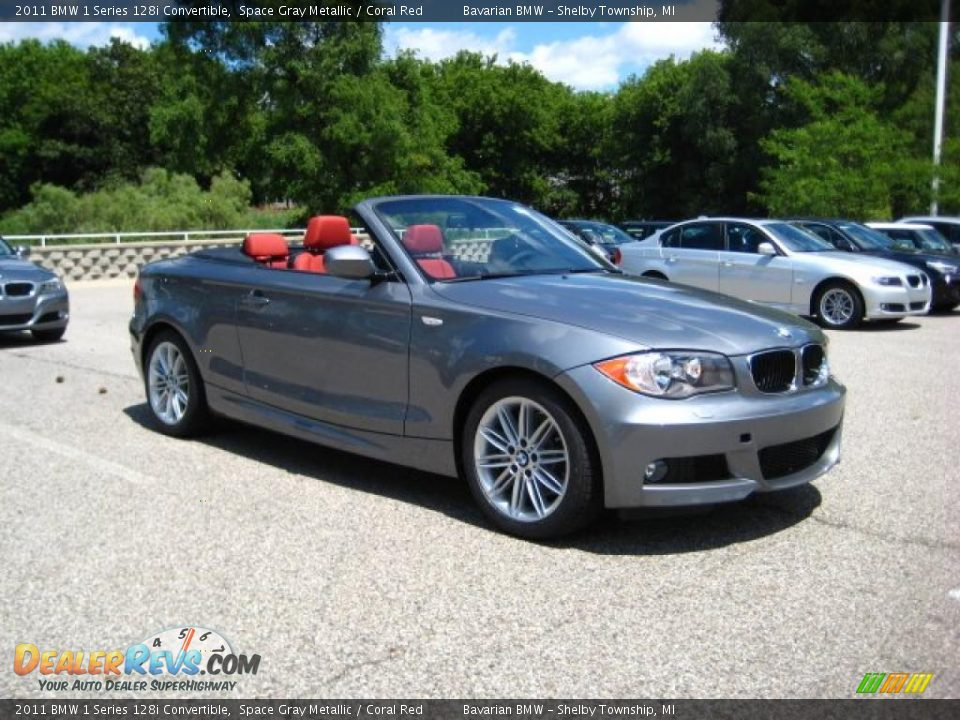 Bmw 128I Convertible >> 2011 BMW 1 Series 128i Convertible Space Gray Metallic / Coral Red Photo #7 | DealerRevs.com