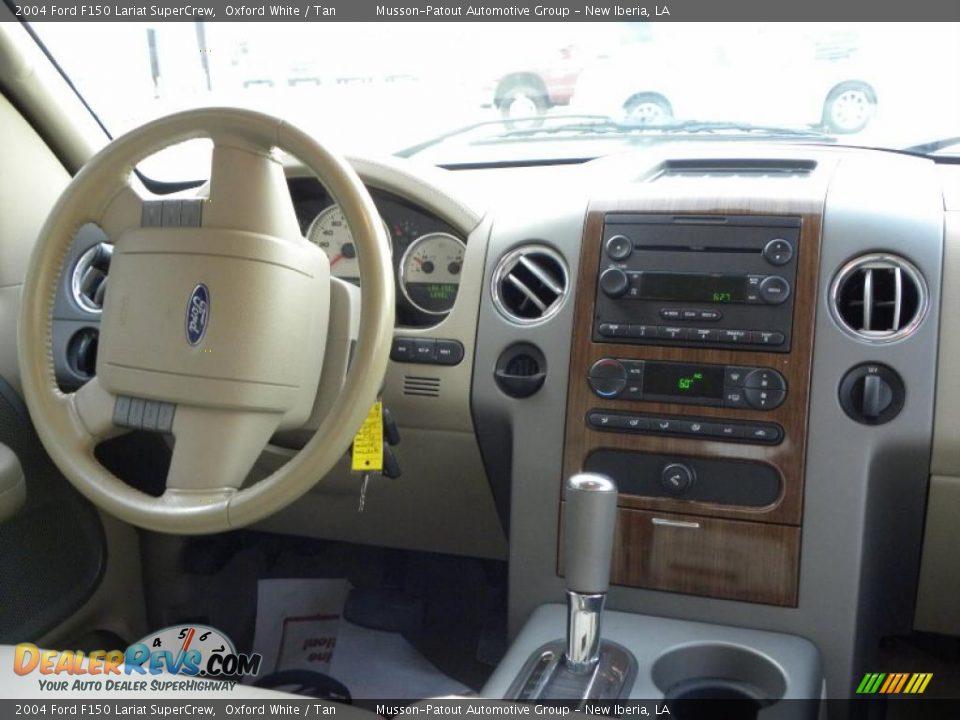2004 Ford F150 Lariat SuperCrew Oxford White / Tan Photo #12 ...