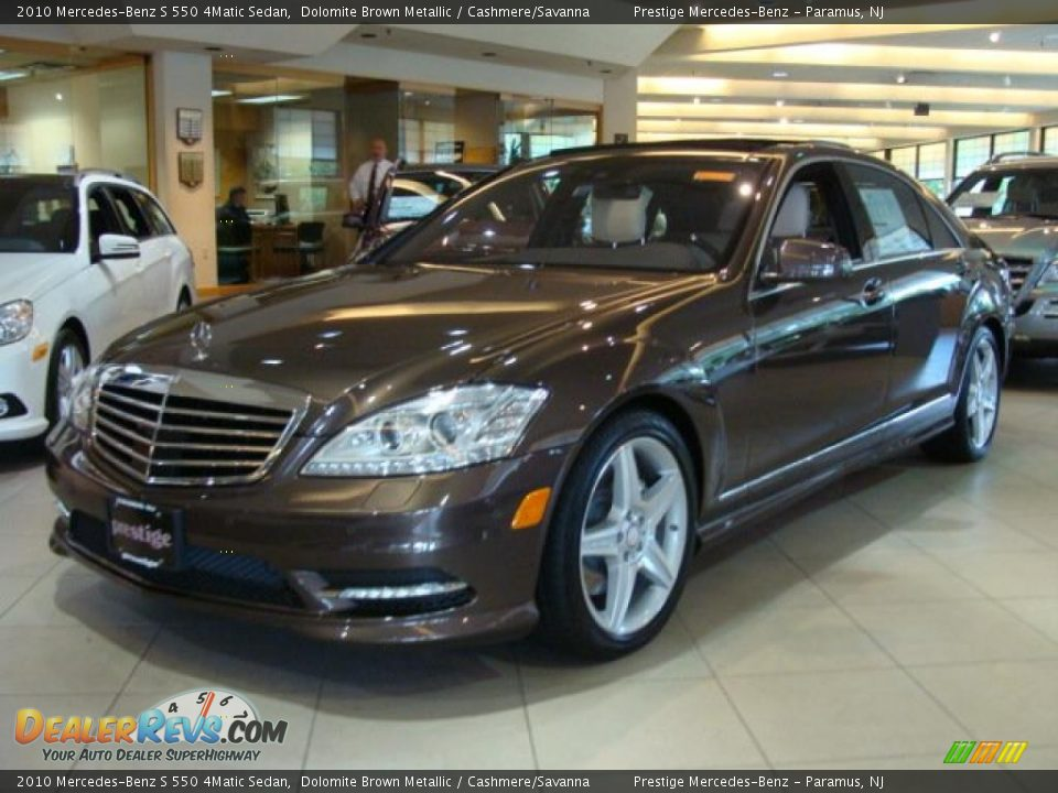 2010 mercedes benz s 550 4matic sedan dolomite brown for Mercedes benz genuine polar white touch up paint code 149