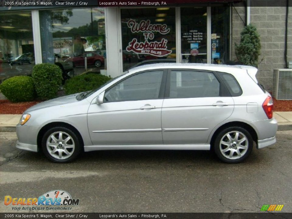 2005 kia spectra 5 wagon clear silver gray photo 2. Black Bedroom Furniture Sets. Home Design Ideas