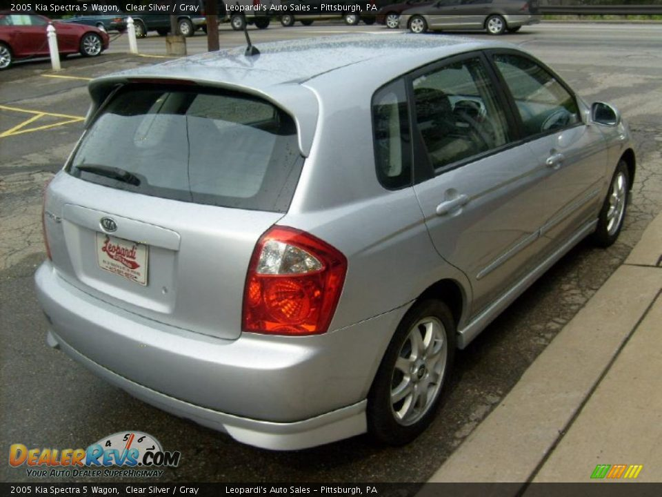2005 kia spectra 5 wagon clear silver gray photo 5. Black Bedroom Furniture Sets. Home Design Ideas