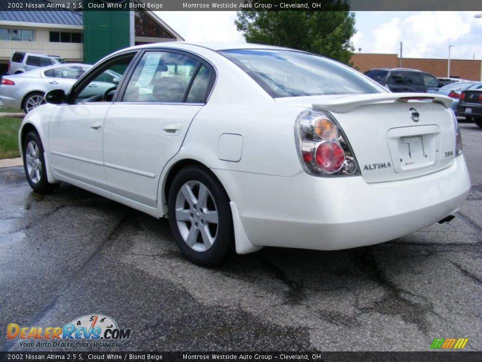 2002 Nissan Altima 25 S Cloud White Blond Beige Photo 3